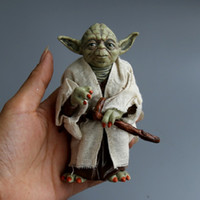 Wholesale Anime Marvel - Marvel Star Wars Yoda Darth Vader Stormtrooper Action Figure Toys The Force Awakens Jedi Master Yoda Anime Figures Lightsaber