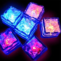 Romantique LED Ice Cubes Night Lights 7 Couleur Auto Changing Crystal Cube Pour Saint-Valentin Party Wedding 240pcs / lot expédition rapide