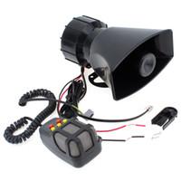Wholesale Motorcycle Siren Speaker - Super Loud 100W 12V 5 Sounds Motorcycle Car Van Truck Speaker Loud Siren Horn 105db With MIC MOT_50X