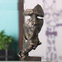 sanat heykel heykeli toptan satış-7 inç Yüz Heykel Heykeli Özet Modern Art Deco