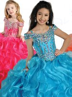 Wholesale Most Sold Dresses - Sell like hot cakes!Most shinning Girl Pageant Prom Princess Ball Gown Formal Dresses custom made