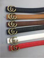 Wholesale Genuine Solid Gold - 2017 New Famous Brand Men Women Leather Belt Gold Buckle Women Genuine Leather Designer Belts