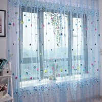 Multi-Style Pattern Tulle Voile Window Curtain Pannello Sheer del pannello della tenda della finestra della tenda Valances Sheer Curtains
