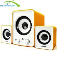 Wholesale laptop alienware - Wholesale- Subwoofer 2.1 Speaker Sound System PC Home Desktop Audio Stereo Speaker For Alienware, Lenovo & More Laptop   Desktop Computers