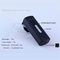 Wholesale Headset Camera Recorder - 32GB Hd 1280*720P Bluetooth Headset With Video Camera Audio Recorder Portable Camcorder Cam DVR Mini DV