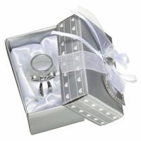 ingrosso favori di battesimo doccia per neonati-50pcs / lot battesimo ritorno regali scelta cristallo bambino scarpa battesimo souvenir baby shower favori