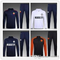 Wholesale Open Pants - 2016 2017 Top quality Inter Milans City soccer tracksuit chandal 16 17 Rome football Tracksuit training suit skinny pants Sportswear