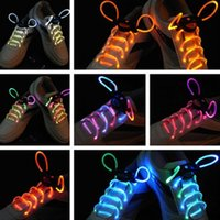Wholesale Hair Glow Sticks - 30pcs(15 pairs) 2017Fashion LED Shoelaces Shoe Laces Flash Light Up Glow Stick Strap Flat Shoelaces Disco Party Shoes Accessories HG23