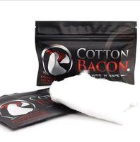 Wholesale Electronic Cigarette Rebuild - 2017 Cotton Bacon V2 Pure Organic Cotton For RDA RBA Version 2 Electronic Cigarette Bacon Botton DIY RDA Rebuild Made in China