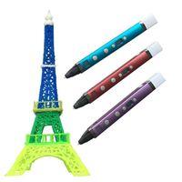 Wholesale 3d drawing pen kids online - USB D Pen Art Smart Drawing Pen Printing D Pens Kids Creative Education Toy Innovate Handle Doodle Pen D Model With Retail Packing
