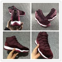 Wholesale Top Quality Silk Flowers - New Top quality 11 GS Velvet Heiress ALL Red flowers Women Basketball shoes sports sneakers Wholesale trainers size 36-40
