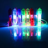 Wholesale Whistle Led Party - Colorful Luminous Whistle Led Flashing Whistle Toys Festival And Party Novelty Items Wholesale Free Shipping wen4483