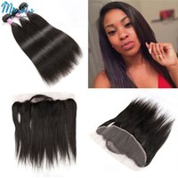 Wholesale Virgin Brazilian Lace Closure 1pcs - Brazillian Straight Virgin Hair Weaves Extensions With Lace Frontal Closure,1pcs 13x4 Lace Frontal With 3Pcs Human Hair Bundles 4Pcs Lot