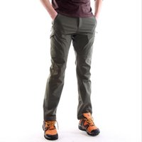 Wholesale Code Sport - Outdoor Men's Sports Trousers Fleece Thickening Slim Pants Warm Assault Pants Hip-Hop Solid Color Soft Shell On Foot Fitness Code