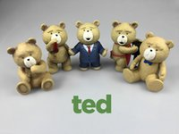 171217 5pcs Ted Bear The Film Teddy Bear Ted 2Plush Toys En Delantal England Love Sweater Soft Peluches Ted Ted Bear Muñecas