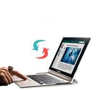 lenovo espanhol venda por atacado-Atacado- original do teclado Bluetooth Para Lenovo IOGA 2 3 Pro 10.1 Rechargeable Touchpad Russo Árabe Espanhol Alemão Francês teclado