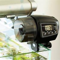 temporizadores de acuario al por mayor-Digital LCD Automático Tanque de Agua de Acuario Alimentador de Pescados Temporizador Alimentador de Alimentos Electrónico Temporizador Automático Inicio Dispensador de Alimentación de Ahorro de Espacio