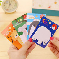 Wholesale Penguin Note - Wholesale- C44 Kawaii Cute Lion Penguin Raccoon Bear Memo Pads School Office Supply Student Stationery Sticky Notes Planner Notepads