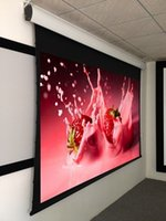 Wholesale 16 Flexible Motorized Tab tensioned Screen cinema projection screen