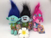 Wholesale Troll Wholesale - 23cm Trolls Plush Toy Poppy Branch Dream Works Kids Soft Cartoon Stuffed Dolls Children Birthday Gifts b946