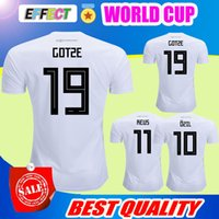 Wholesale Cup Shirts - Thailand GeRMAny soccer jerseys 2018 WORLD CUP MULLER OZIL KROOS HUMMELS WERNER REUS SANE GOTZE jersey football shirt camisetas de futbol