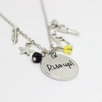Wholesale Christmas Chain Letters - wholesale 12cs lot Rise Up Alexander Musical Inspired Lyrics charm necklace pendant necklace for women girl gift christmas gift jewelry