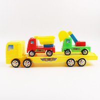 Wholesale Diecast Toy 64 - 3 pcs Truck toys Armored vehicle model children cars model toys excavator Loader bulldozer diecast cars boy gift Christmas