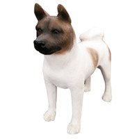Wholesale Umbrella Japan - Japanese Akita Dog Figurine Hand Crafts resin dog statue Carved Figurine with Resin for Room Decoration