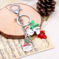 Wholesale Ladies Accessories Holders Wholesale - Resin beads Snowman Pendant Keychain Key Holder Chain Keyring Lady handbag Keychain carring Accessories Jewelry