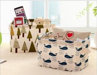Wholesale Fresh Clothing - Wholesale and fresh cotton and linen with hand - hand desktop sundry basket collection box cabinet small clothing cloth art collecting baske