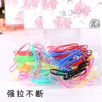 Wholesale Disposable Hair Bands - Tie hair ornaments hair rope rubber elastic ring color Tousheng disposable baby hair of children