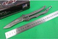 Wholesale Snake Aluminum - MICROTECH snake Free-swinging Hunting Folding Pocket Knife flail knife Survival Knife Xmas gift 1pcs freeshipping