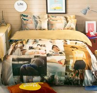 Wholesale Quilt Patchwork Set - Sexy bedding set 100% pure cotton bedding Fashion Designs Duvet Quilt cover set Bedroom Bedding Home Textiles