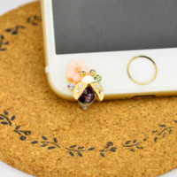 Wholesale Iphone Accessories Dust Plug - Cute Little Ladybug Luxury Front Anti Dust Plug Diamond ustproof Plug For For iPhone 4,4S,5,5C,5S,6,6S Mobile Phone Accessories