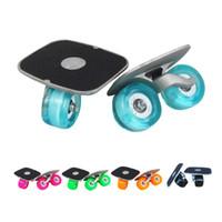 Wholesale Green Inline Skates - Skate Board Portable Drift Board For Roller Road Drift Plate Anti-skid Skateboard Sports Aluminum Pedal Flash PU Wheels