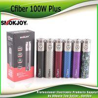 Wholesale Fiber High - Authentic Smokjoy Cfiber 100w Plus Battery 3000mah 40A Carbon Fiber 24mm Diameter High Wattage Mod 100% Genuine 2242014