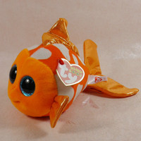 "Wholesale Ty Plush Free Shipping - Wholesale- IN HAND FREE SHIPPING NEW TY BIG EYES SERIES STUFFED PLUSH DOLL ANIMAL Goldfish* Sami* 6""15cm Plush toy doll best gift"