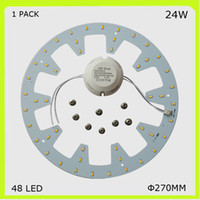 Wholesale Led Tube Pcb - 1 PACK DIY install round 24W LED ceiling light 2300LM PCB led plate DIA 272MM circular techo LED 120v 220V 230V 240V repalce 2D tube