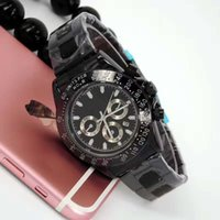 black butterfly decorations - scale decoration needle top brand sports men solid solid AAA quality quartz watch function accurate positioning calendar quartz movement