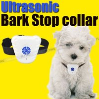Bark Stop Haustier Hund Training Kragen Ultraschall Anti Barking Kontrolle Wasserdicht
