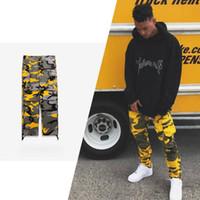 Wholesale Fashion Cargo Trousers - Newest Fashion Mens Camouflage Jogger Pants Men Pants Loose Comfortable Cargo Trousers Camo Joggers Free Shipping