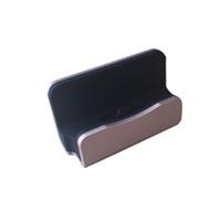 caixa do berço venda por atacado-Carregador rápido Docking Station Cradle Carregamento Sync Dock com caixa de varejo para Type-c iPhone 6 7 Plus Para Samsung S6 S7 S8 borda nota 5