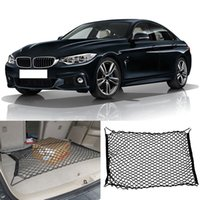 Wholesale Mesh Rear Trunk Storage Nylon Net Baggage Organizer Elastic Fit For BMW Series Car Interior Storage
