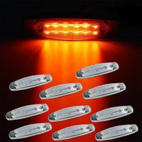 10 unids Side Marker Light 12LED Panel bajo la cabina para Peterbilt 379 Amber Clear Lens luces del remolque Envío gratis