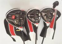 Wholesale Oem Golf Driver Heads - 3PCS M1 Wood Set Golf Woods OEM Golf Clubs Driver + Fairway Woods R S-Flex Graphite Shaft Assemble With Head Cover