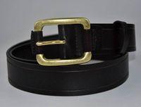ceinture marron achat en gros de-Gladyoung nouveau mode végétal tanné brun foncé en cuir laiton aiguille boucle ceintures pour hommes 3,8 cm de large