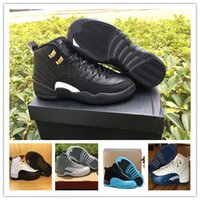 Wholesale Gold Elastic Thread - 2016 Basketball Shoes Retro XII 12 Men Women 12s Flu Game French Blue 12s The Master Gym Red Taxi Playoffs Shoes Sport Shoes With Box