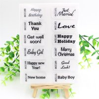 Wholesale Happy Birthday Scrapbooking - Wholesale- Happy Birthday Transparent Clear Silicone Stamp Seal for DIY scrapbooking photo album Decorative clear stamp sheets