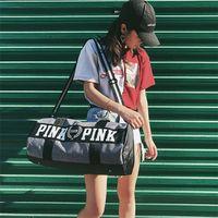 Wholesale Wholesale Single Luggage - 2017 Canvas secret Storage Bag organizer Large Pink Men Women Travel Bag Waterproof Victoria Casual Beach Exercise Luggage Bags IB061
