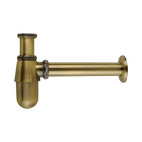 Wholesale Pipe Faucet - Antique Bronze Siphon Bottle Traps Pop up Basin Waste Drain Basin Faucet P-Traps Waste Pipe Into the wall drainage Plumbing tube